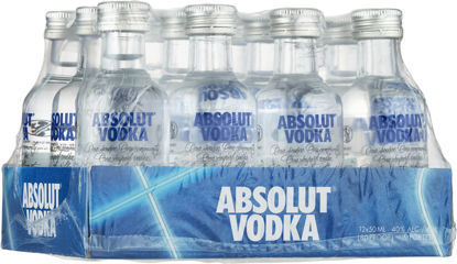 Picture of ABSOLUT VODKA 40%       12X5CL