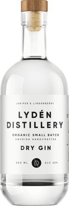 Picture of DRY GIN EKO LYDEN 40% 6X50CL